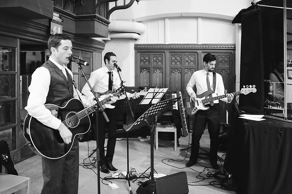 wedding day music and band in church