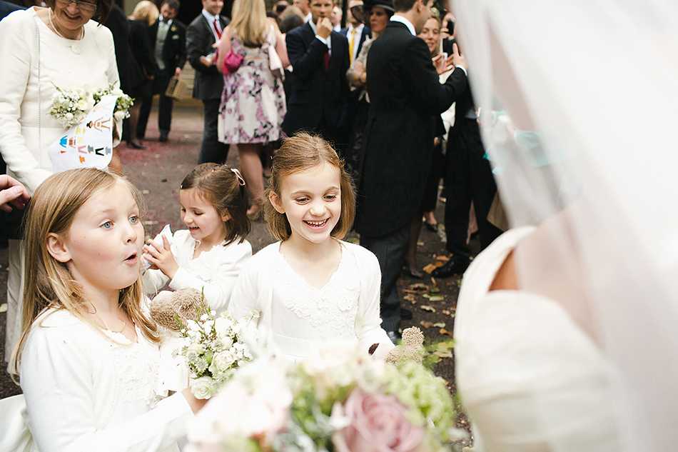 creative destination wedding photography with flower girls