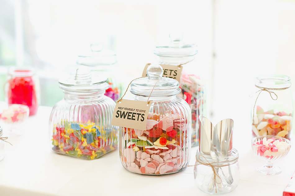 lollies bar or sweets bar at a wedding