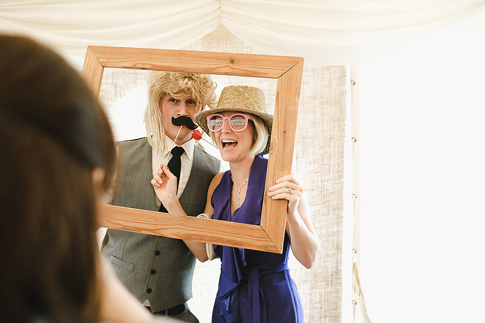 diy wedding photo booth in a marquee or tipi wedding