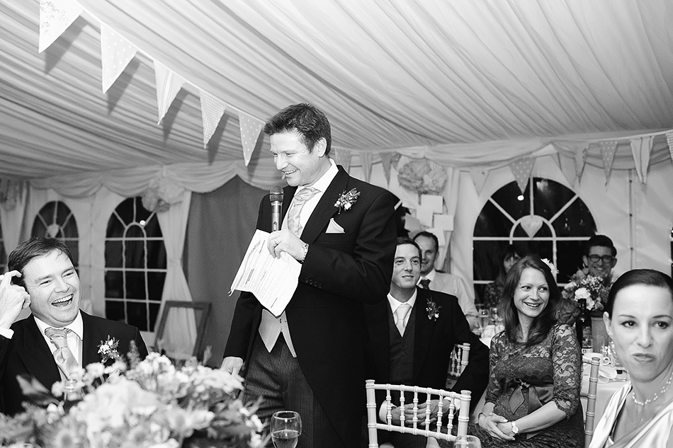 family wedding day photography of speeches