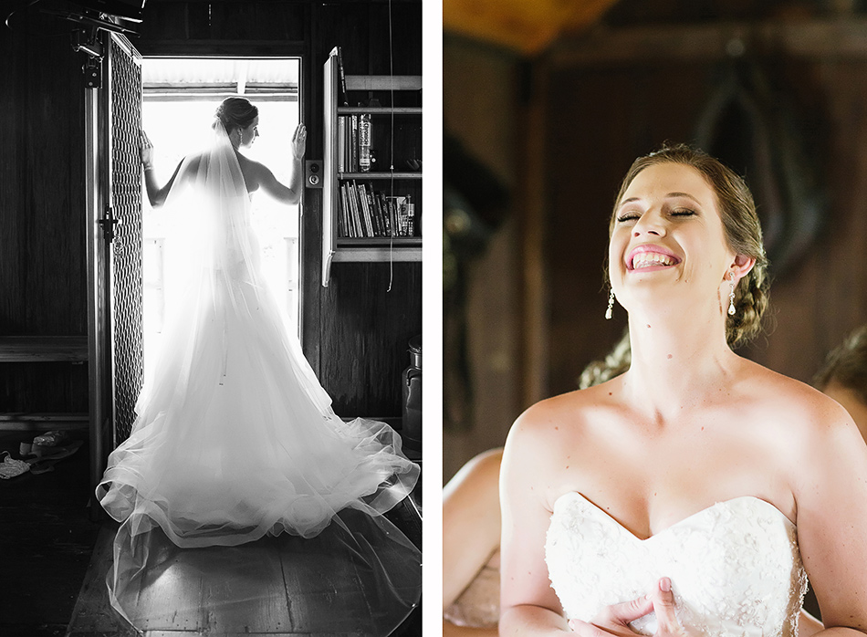 queenland wedding photographer bride getting ready in a barn in brisbane