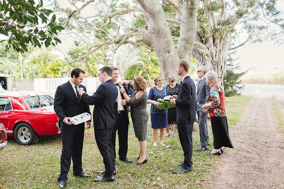 outdoor wedding photographer at a garden wedding brisbane yandina station