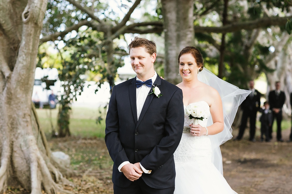 brisbane wedding photographer cool wedding outdoors bride and groom first look