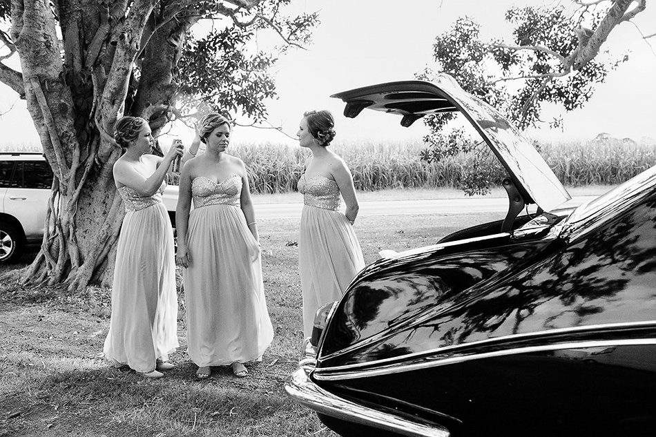black and white bridal car photos
