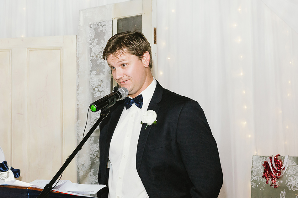speeches at a wedding ceremony in a tent brisbane