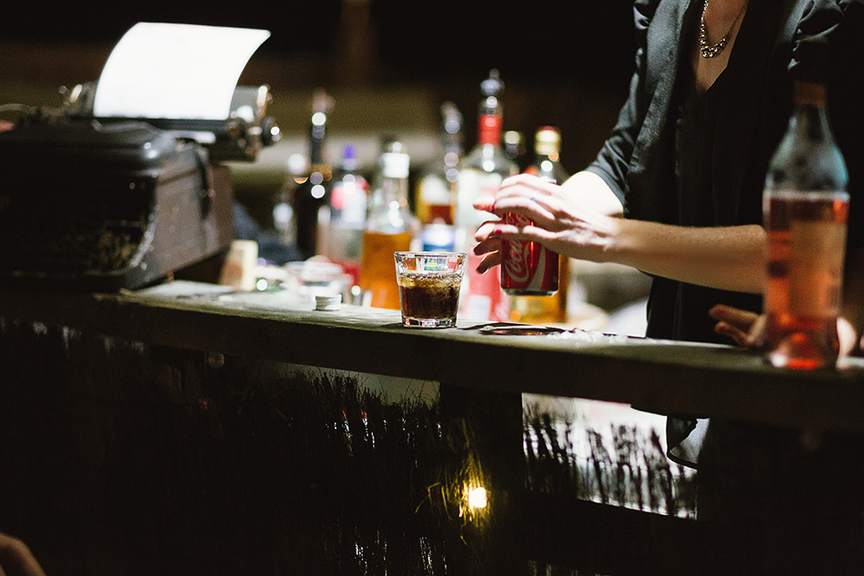 bar at wedding