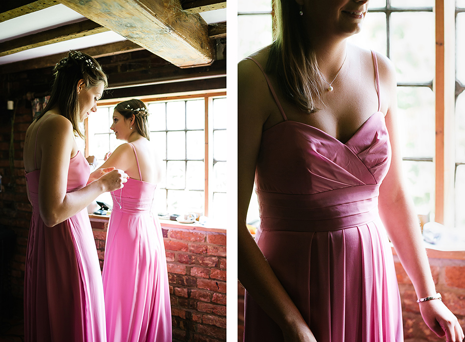 pink bridesmaid dresses wedding photographer