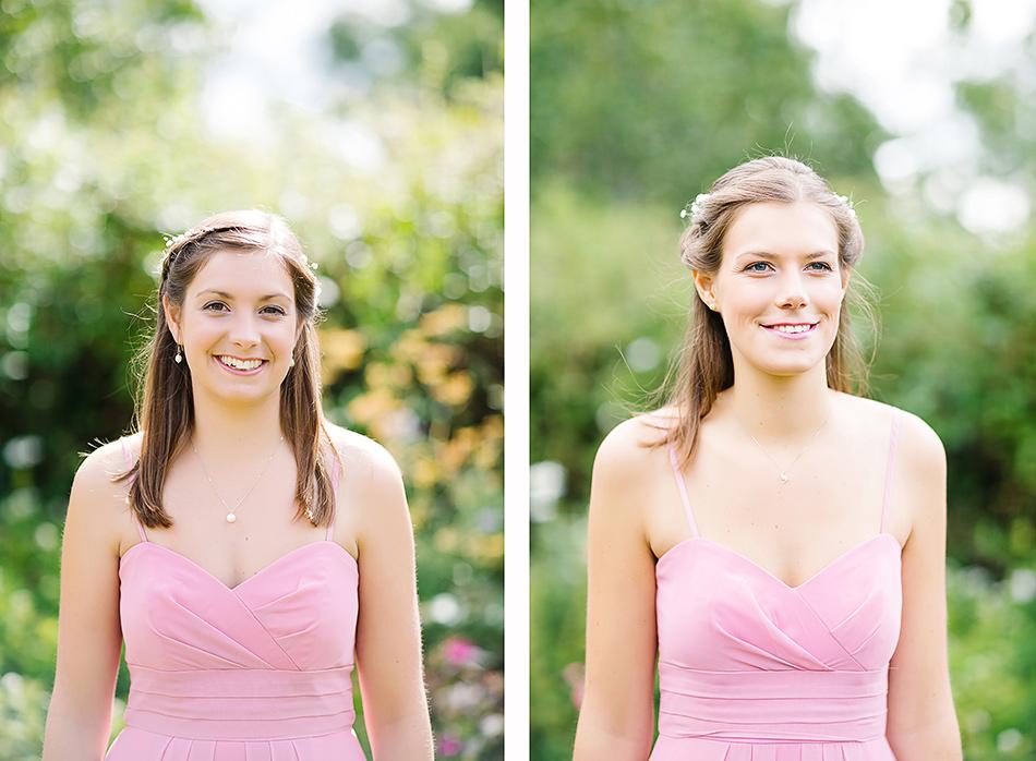 pastel pink bridesmaid dresses brisbane wedding photographer yandina station wedding