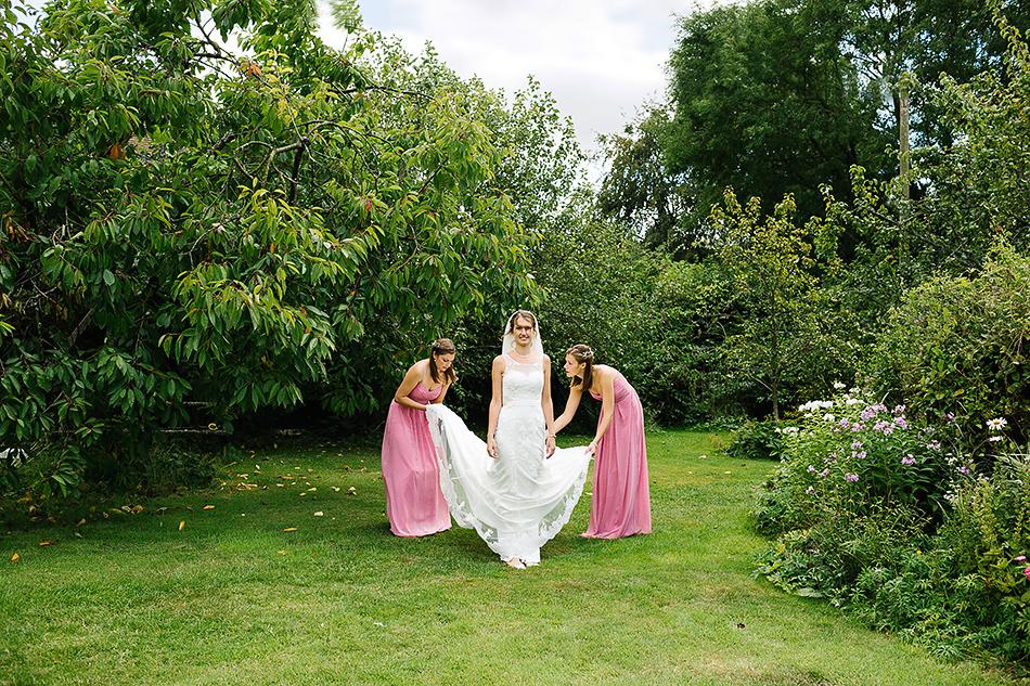 village fair vintage wedding photographer in a field
