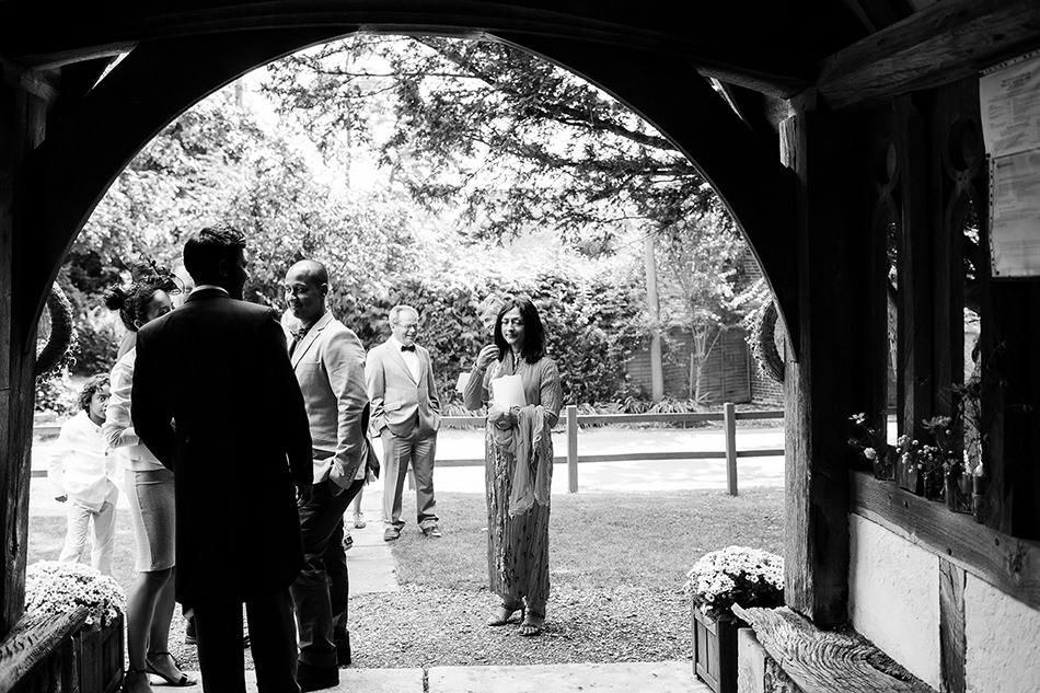 best man waiting at church on wedding day