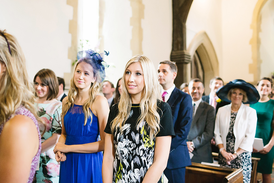 guests in church at wedding day