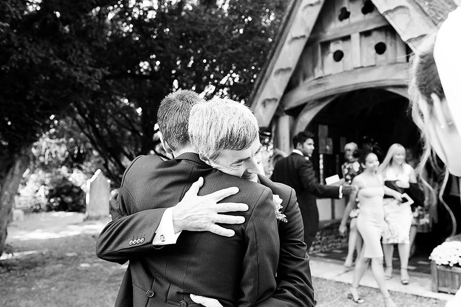 colour wedding photography family photos outside church