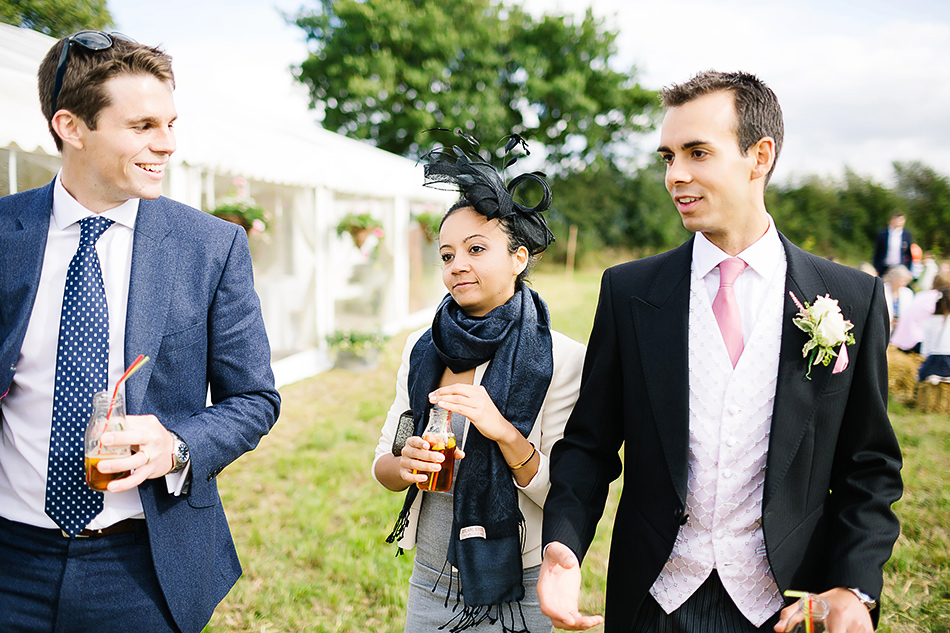 outdoor wedding photography of guests