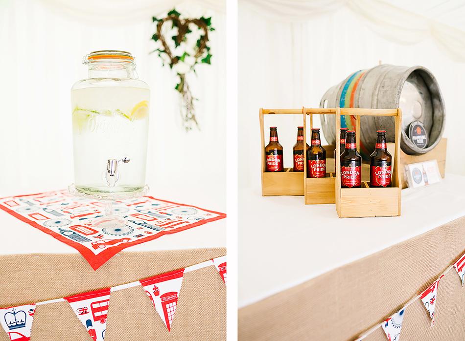 wedding photographer drinks ideas for marquee wedding