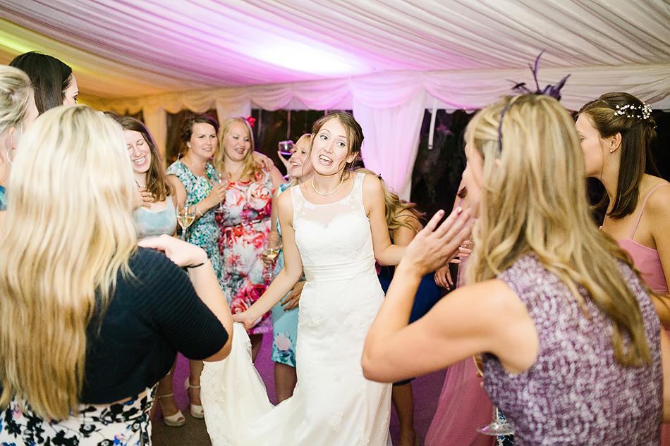 bride dancing with friends yandina station wedding