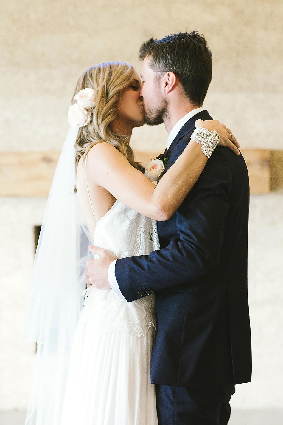 wedding ceremony at earth house byron bay