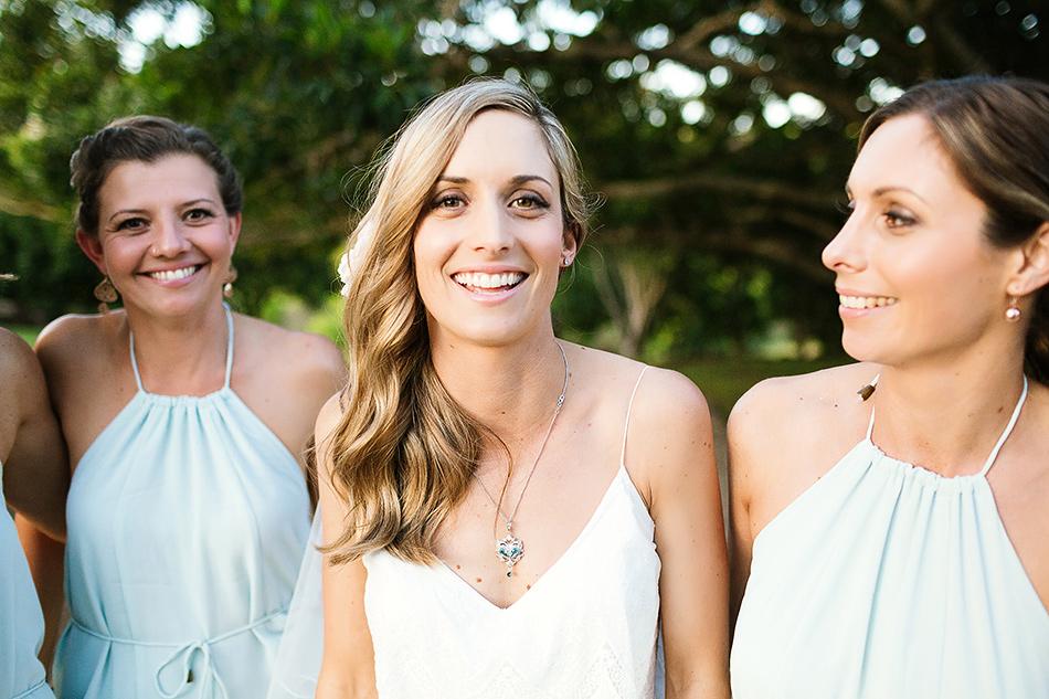 gorgeous bridesmaids at earth house byron bay