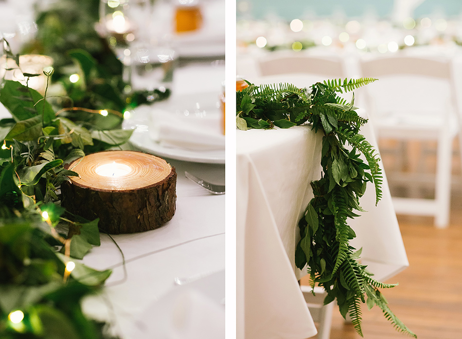 diy wedding table decorations table flowers at bangalow town hall wedding reception