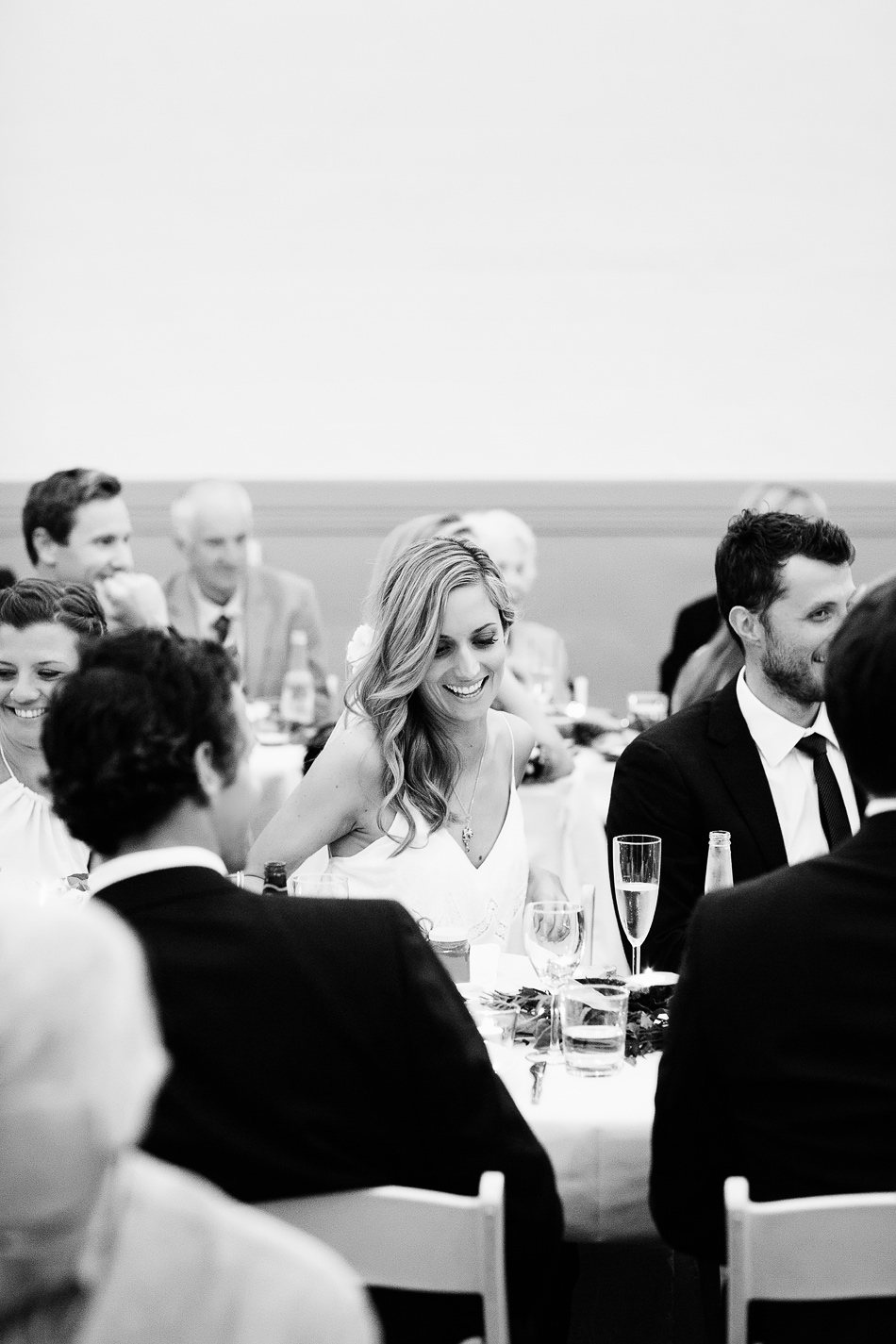 black and white wedding photography at bangalow town hall