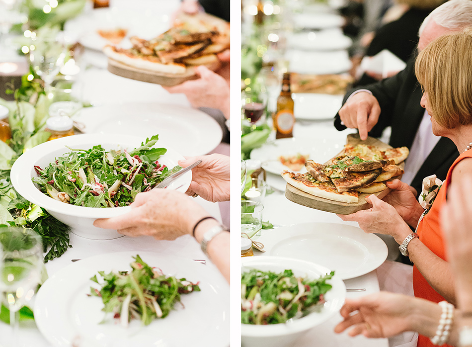olive and luca pizza at bangalow town hall wedding