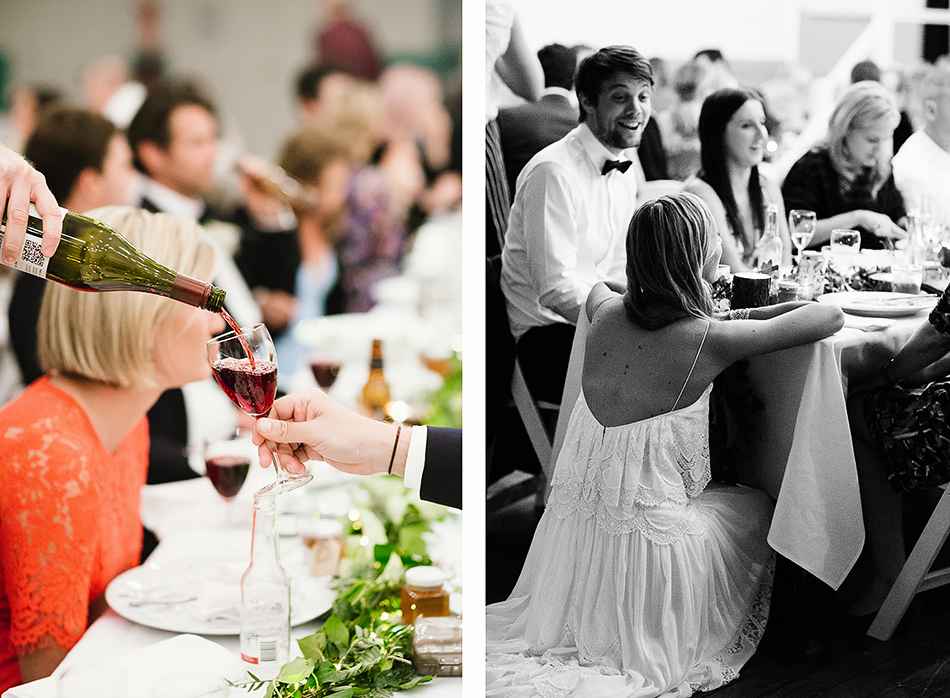 wedding photographer olive and luca wedding pizza at bangalow town hall