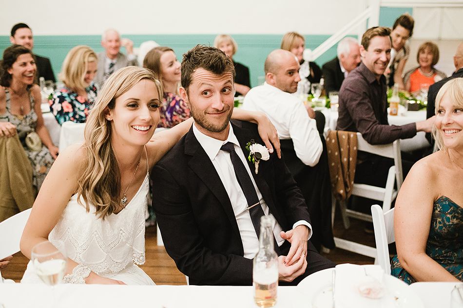 bride and groom photos during speeches wedding photographer bangalow town hall