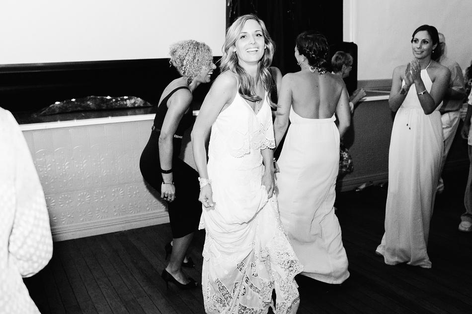 black and white wedding photographer bangalow town hall