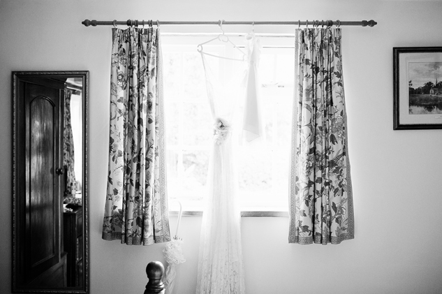bridal preparation photography on a farm