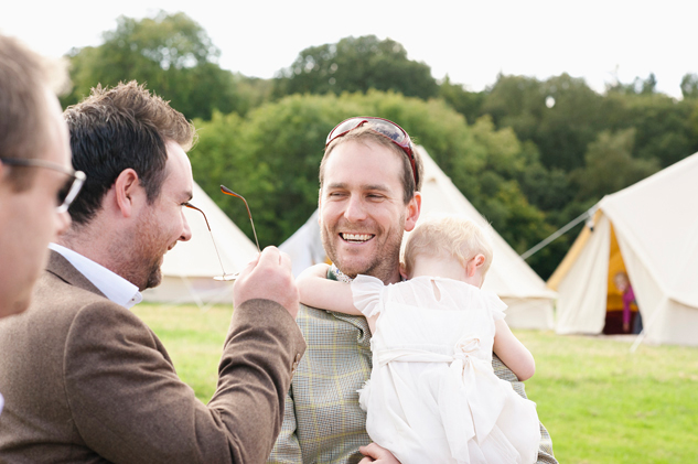 festival style wedding with tepee hire