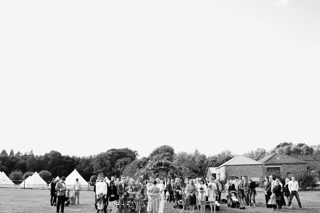 wedding ceremony in a field wedding festival wedding