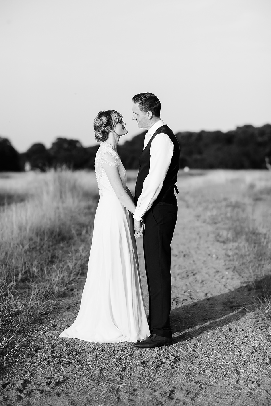 black and white wedding photography portrait