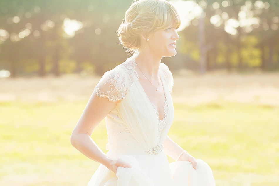 bride in the sunshine photo