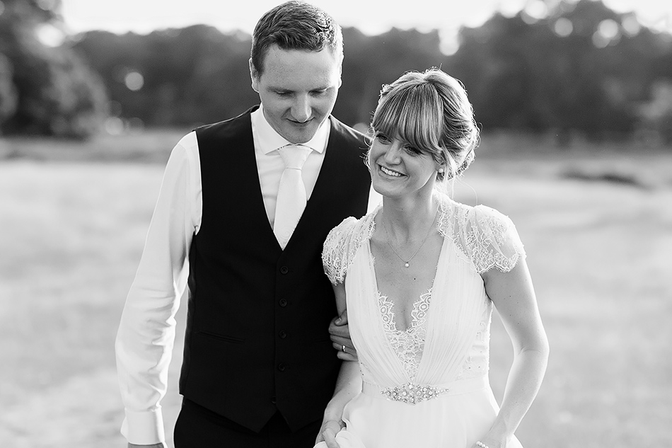 black and white wedding photography at a field wedding
