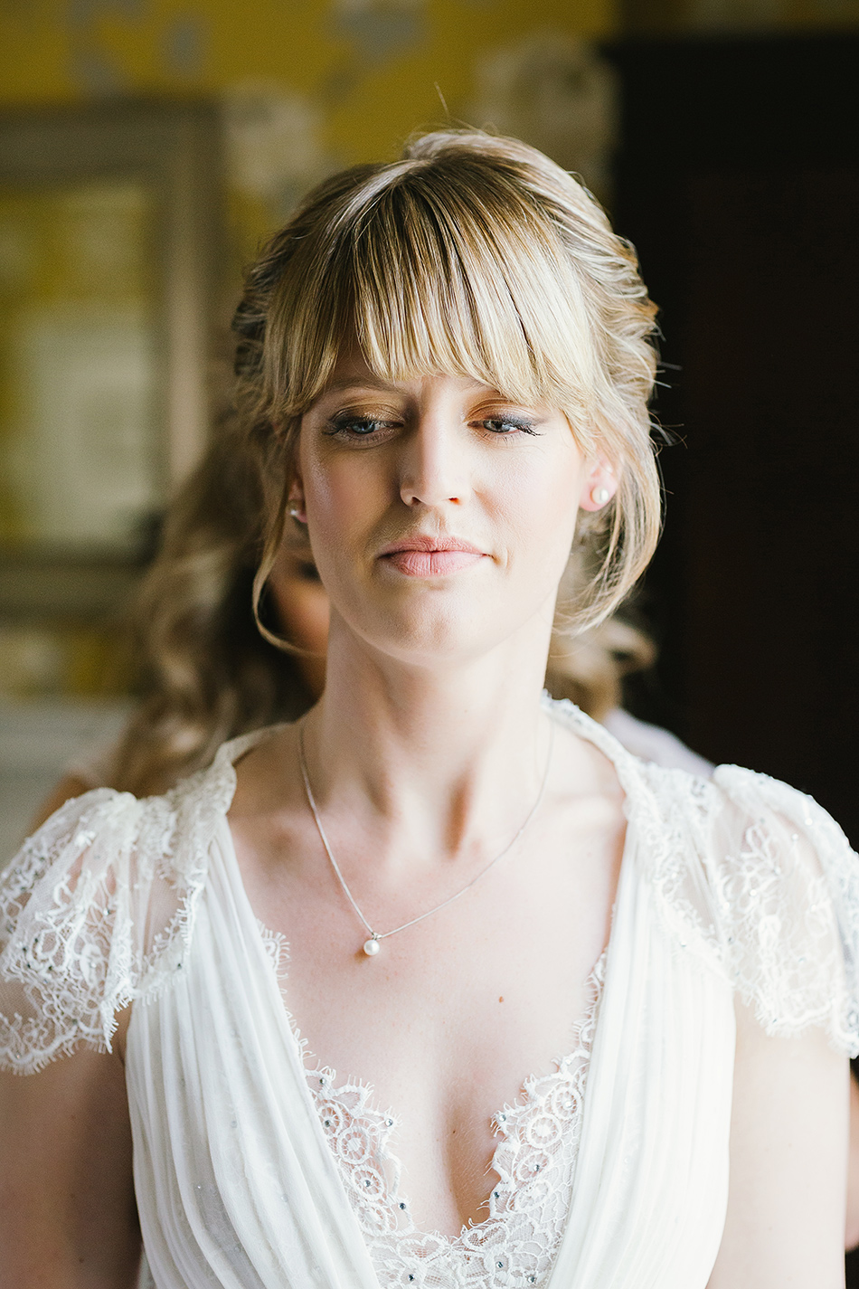 bride wedding portrait in colour claire pettibone wedding dress