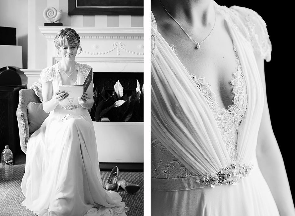 bridal portrait brisbane wedding photogapher black and white wedding photograph of bride in claire pettibone