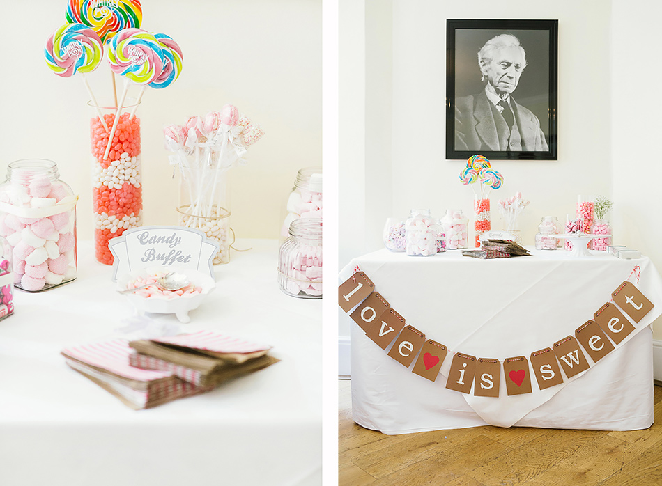 lollie bar at a wedding