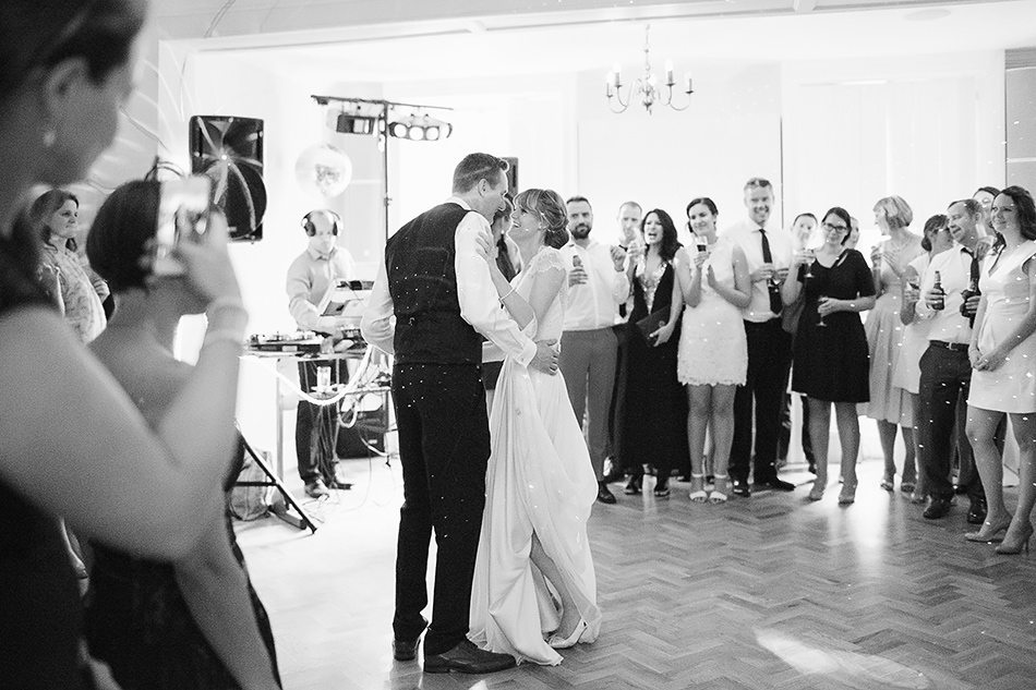 creative wedding photographer sunshine coast at the first dance at a wedding