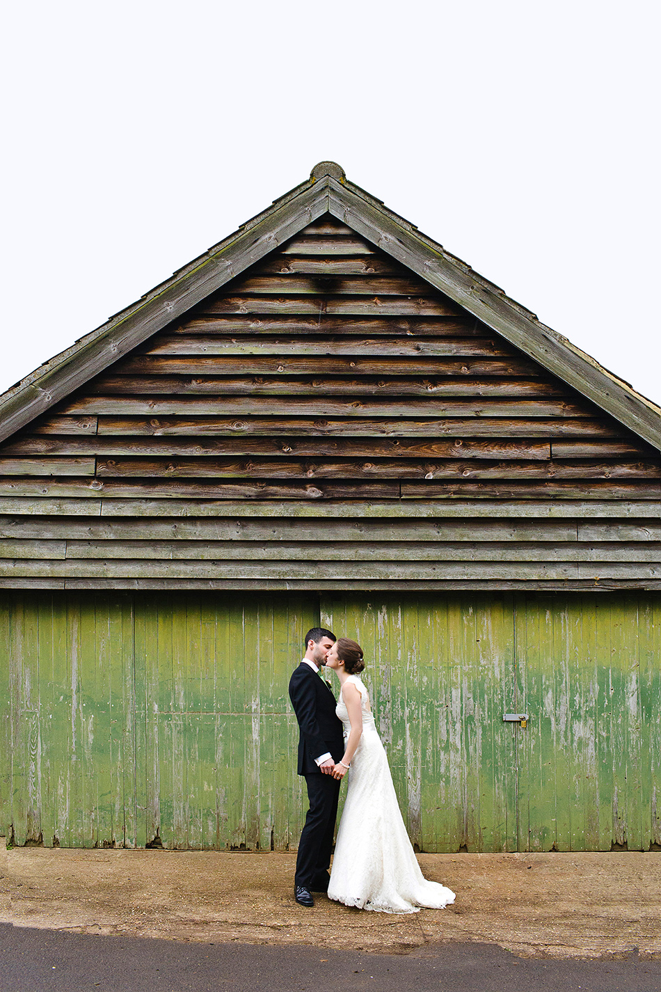 barn wedding photography in a portraot of a bride and groom cool wedding photography