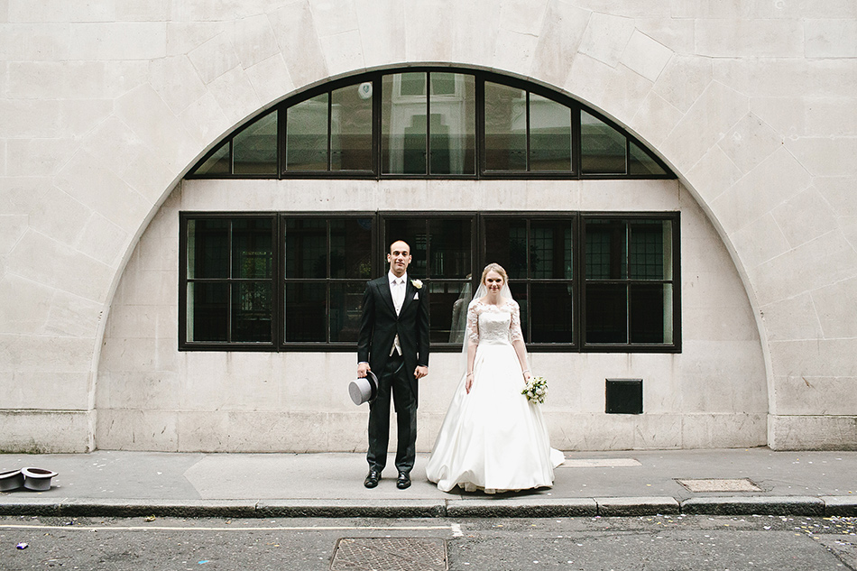 creative wedding photographer in london st brides church