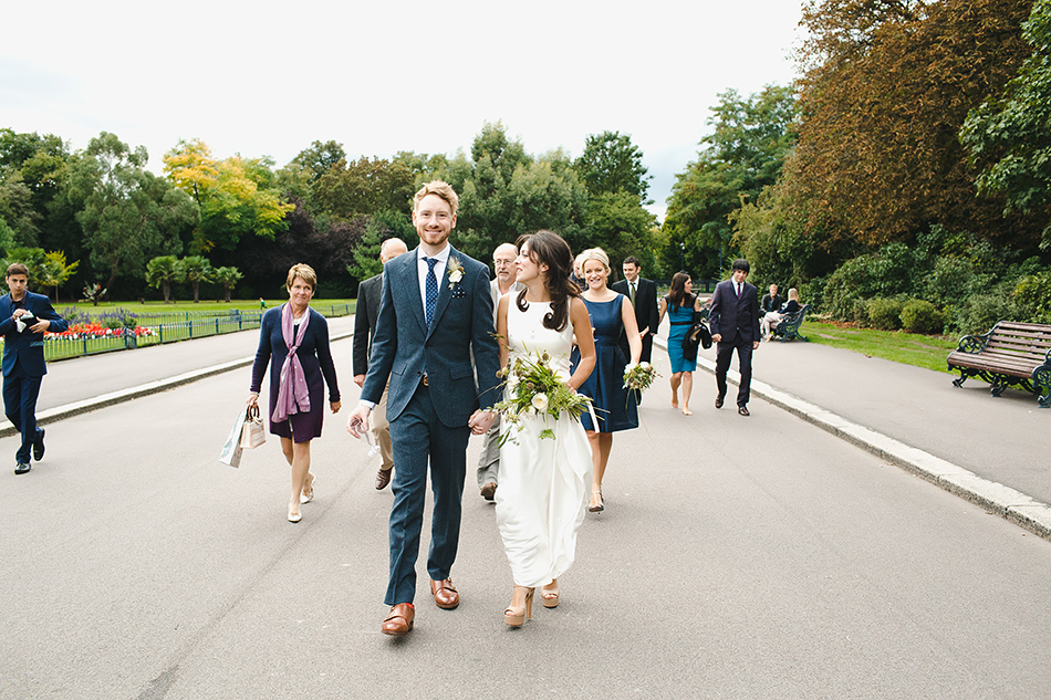 boho style wedding photography in a park royal in on the park wedding