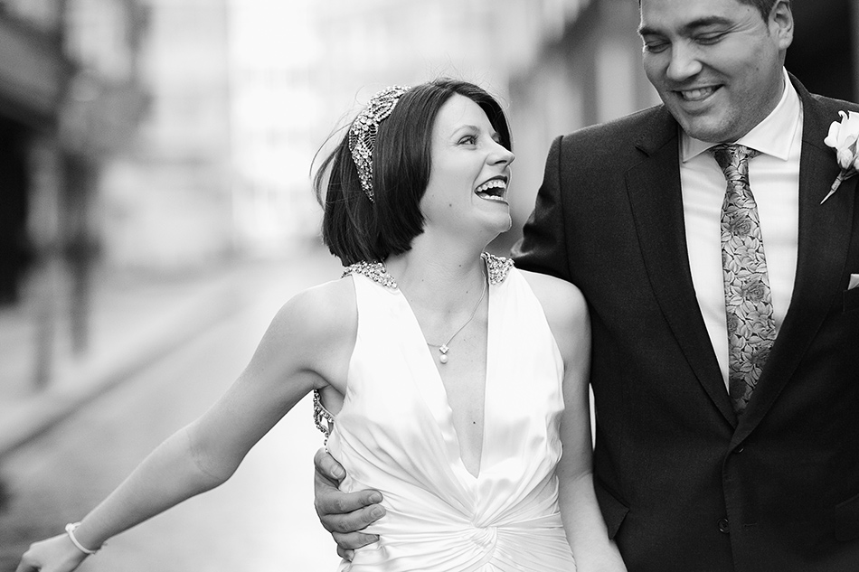 london wedding photographer black and white wedding portrait