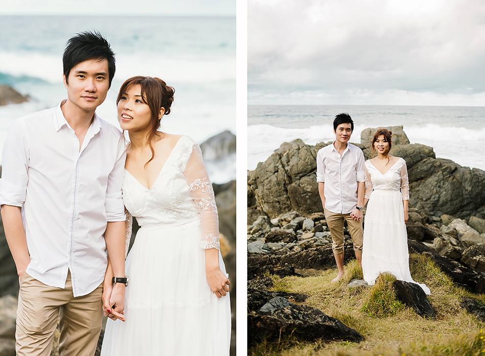 creative wedding photographer natural vintage wedding byron bay beach