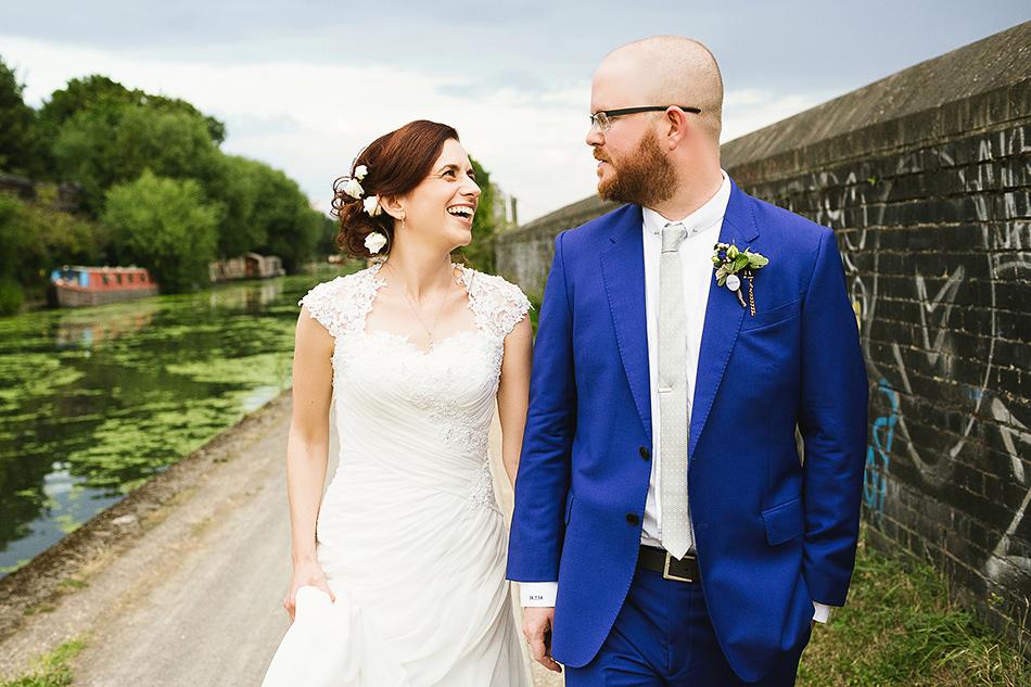 bride and groom portrait photographer warehouse wedding