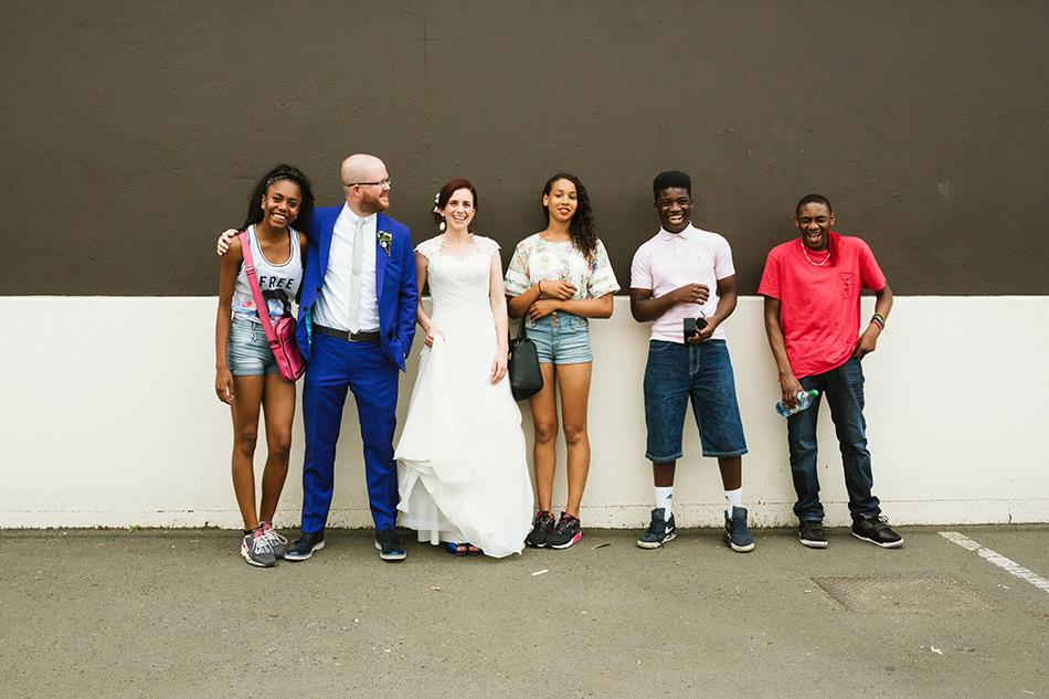 documentary street photography on a wedding day