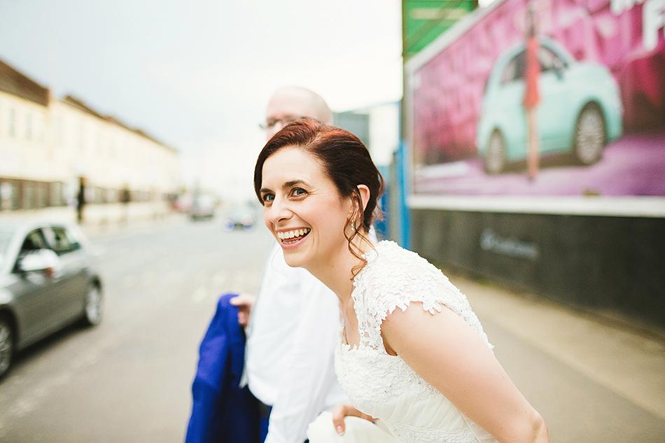 bride portrait industrial wedding brisbane