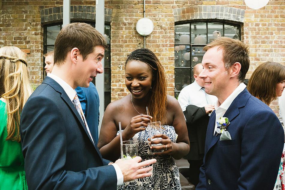 wedding guests at studio thirteen
