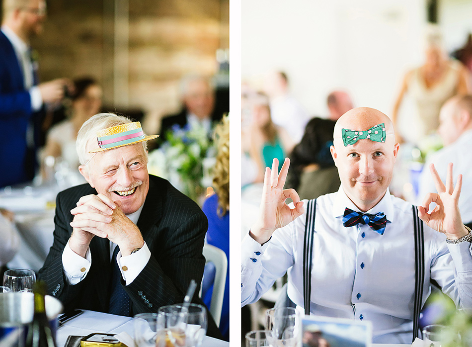 guests at industrial wedding