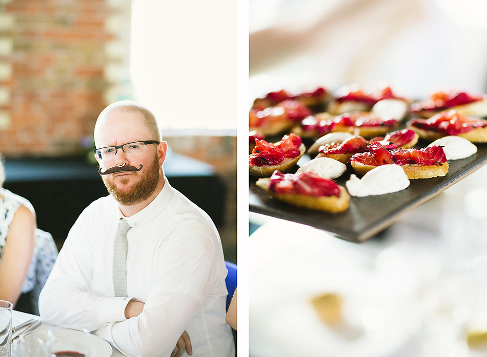 warehouse wedding photographer food idea for canapes