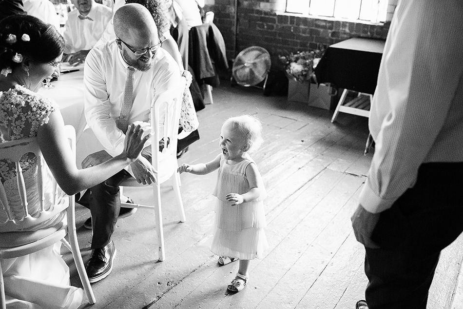 black and white wedding photographer baby photos